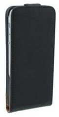 Leder Beschermtasje Vertical Flip Zwart voor Apple iPhone 5/5S