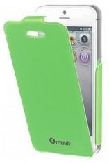 Muvit iFlip Case Fluosh Groen voor Apple iPhone 5/5S