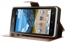 MW Wallet Book Case Bruin voor Huawei Ascend Y530
