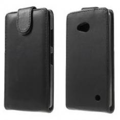 MW Leren Flip Cover Zwart voor Microsoft Lumia 640