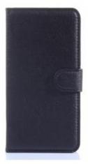 MW Wallet Book Case Lychee Zwart voor Samsung Galaxy Grand Prime