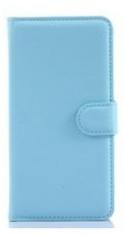 MW Wallet Book Case Lychee Licht Blauw voor Samsung Galaxy Grand Prime