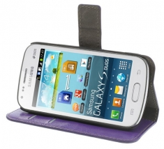 MW Wallet Book Case Paars voor Samsung Galaxy Trend Plus