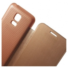 MW Book Case met Battery Cover Rose Goud voor Samsung Galaxy S5 Mini