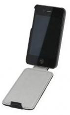 Leder Beschermtasje Flip Zwart voor Apple iPhone 4/ 4S