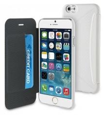 Muvit Easy Folio Card Case Wit voor Apple iPhone 6 Plus