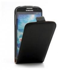 Leder Beschermtasje Vertical Flip Zwart voor Samsung Galaxy S4