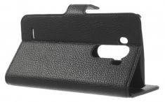 MW Wallet Book Case Lychee Zwart voor LG G3