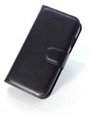 MW Wallet Book Case Litchi Zwart voor Samsung Galaxy Ace Style