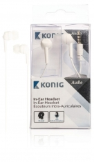Konig CSHSIER300WH In-ear Headset Wit
