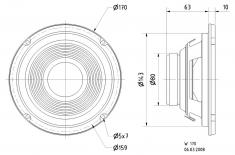 "Visaton Vs-w170/8 Woofer 17 cm (6,5"" ) 8 Ohm"