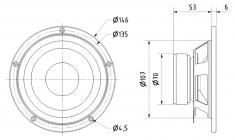 """Visaton Vs-w130s/8 Bas Mid Luidspreker 13 cm (5"""") 8 Ohm"""