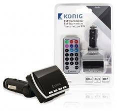 Konig CSFMTRANS100BL 12V FM-Zender met Afstandsbediening