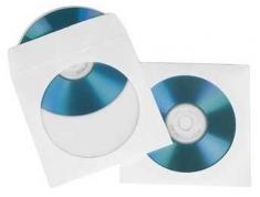 Hama 51179 CD/DVD Papieren Hoesjes 25 Stuks Wit