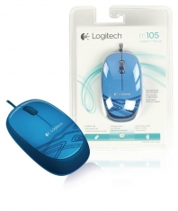 Logitech Lgt-m105 bu Blauwe M105 Muis