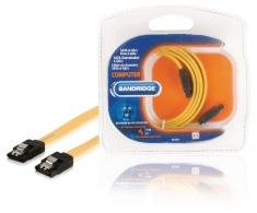 Bandridge BCL9401 Sata 6 Gb/s-datakabel Sata 7-pins Contraplug - Sata 7-pins Contraplug 1,0 M Ge