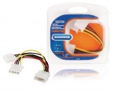 Bandridge BCL9720 Interne Stroomsplitterkabel Molex Plug - 2x Molex Contraplug 0,15 M Multi