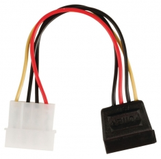 Valueline VLCP73500V015 Interne Stroom Adapterkabel Sata 15-pins Vrouwelijk - Molex Mannelijk 0,