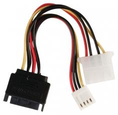 Valueline VLCP73550V015 Interne Stroom Adapterkabel Sata 15-pins Mannelijk - Molex Vrouwelijk +