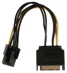Valueline VLCP74200V015 Interne Stroom Adapterkabel Pci Express Vrouwelijk - Sata 15-pins Mannel