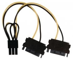Valueline VLCP74205V015 Interne Stroom Splitterkabel Pci Express Vrouwelijk - 2x Sata 15-pins Ma
