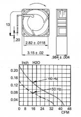 Sunon Cy 203 Ac Ventilator 80 X 80 X 38 mm