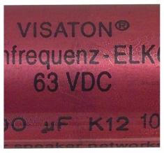 Visaton VS-100/63BA Bipolaire Elco 100 Uf 63 V