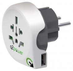 Q2 Power 1,100110 Reisadapter Wereld-naar-europa Usb Geaard