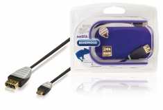 Bandridge BBM60515B02 Usb 2,0 Otg Micro-kabel Usb 2,0 A Contraplug - Usb 2,0 Micro B Plug 0,2 M