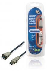 Bandridge BCL5301 Superspeed Usb 3,0-verlengkabel Usb 3,0 A Plug - Usb 3,0 A Contraplug 1,0 M Bl