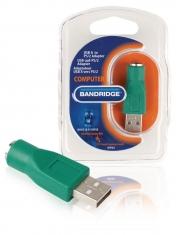 Bandridge Bcp463 Ps/2 Naar Usb A Adapter