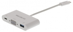 Valueline VLCP64760W02 Usb 3,1 Adapter Usb-c Male - Usb A Female / Usb-c Female / Vga Female 15-