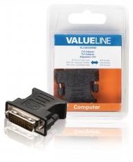 Valueline VLCB32900B Dvi-adapter Dvi-i 24 + 5-pins Mannelijk - Vga Vrouwelijk Zwart