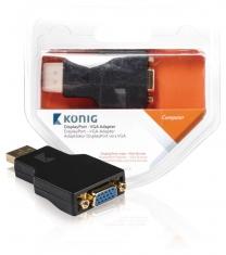 Konig KNC37935E Displayport - Vga Adapter Displayport Male - Vga Female 1 Stuk Grijs