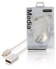 Profigold Prom221 Mini Displayport-adapter Mini Displayport Male - Displayport Female 0,20 M Wit