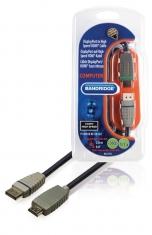 Bandridge BCL2702 Displayport Kabel Displayport Male - Hdmi-connector 2,00 M Blauw
