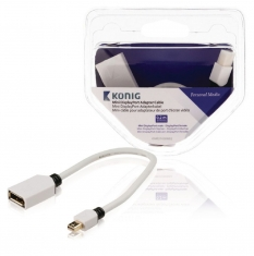 Konig KNM37450W02 Mini Displayport Adapterkabel Mini Displayport Male - Displayport Female 0,20