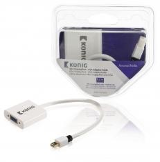 Konig KNM37850W02 Mini Displayport - Vga Adapterkabel Mini Displayport Male - Vga Female 0,20 M