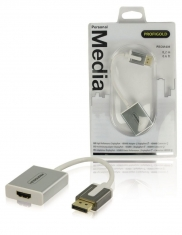 Profigold Prom401 Displayport-adapter Displayport Male - Hdmi-uitgang 0,20 M Wit