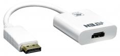 Aten VC986-AT Displayport Kabel Displayport Male - Hdmi-uitgang 0,15 M Wit
