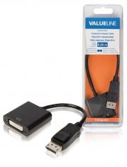 Valueline VLCB37250B02 Displayport-adapterkabel Displayport Mannelijk - Dvi-d 24 + 1-pins Vrouwe