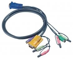 Aten 2L-5302P Kvm Special Combination Cable, Vga/ps/2/audio