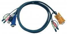 Aten 2L-5303U Kvm Special Combination Cable, Vga/usb/audio