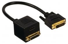 Valueline VGCP32951B02 Dvi Adapterkabel Dvi-d 24+1-pin Male - Dvi-d 24+1-pin Female + Hdmi Input