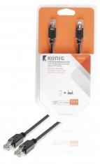 Konig KNC85100E100 Utp Cat5e Netwerkkabel Rj45 Male - Male 10,0 M Grijs