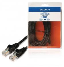 Valueline VLCB85100B100 Utp Cat5e Netwerkkabel Rj45 Mannelijk - Rj45 Mannelijk 10,0 M Zwart
