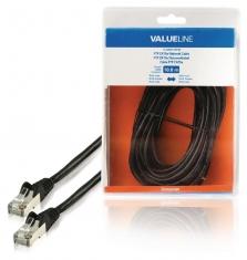 Valueline VLCB85110B100 Ftp Cat5e Netwerkkabel Rj45 Mannelijk - Rj45 Mannelijk 10,0 M Zwart