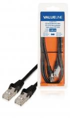 Valueline VLCB85210B10 Cat6 F/utp Netwerkkabel Rj45 (8/8) Male - Rj45 (8/8) Male 1,00 M Zwart