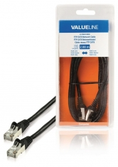 Valueline VLCB85210B20 Ftp Cat6 Netwerkkabel Rj45 Mannelijk - Rj45 Mannelijk 2,00 M Zwart