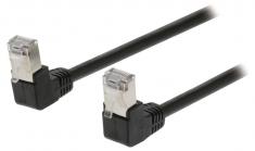 Valueline VLCP85127B05 Cat5e Sf/utp Netwerkkabel Rj45 (8/8) Male - Rj45 (8/8) Male 0,50 M Zwart